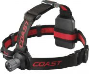 Coast HL40 headlamp & clips white inc.3xAAA blis