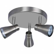 plafondlamp 3 HEAD SPOTLIGHT INCL. GU10 3X250LM 2700K SATIN